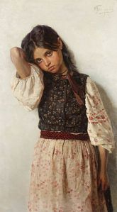 Girl from Malorossiya by Nikolas Kornilievich Bodarevsky [Public domain], via Wikimedia Commons