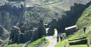 Tintagel, long thought to be Arthur's birthplace. (Photo credit: Wikimedia Commons)