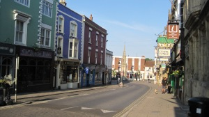 High Street in Glastonbury. Jamie's shop, Gothic Image, is on the right.