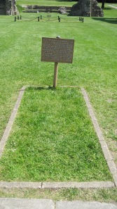 Arthur and Guinevere's grave was found here at Glastonbury Abbey.