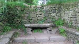 The altar at the ruins of St. Madron Chapel