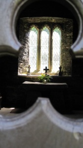 The inside of St. Clether's as taken through the door. You can go inside. I just like the framing of this shot.
