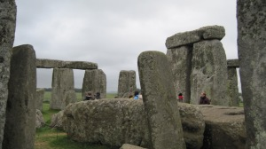 Stonehenge from within the circle.