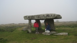 Linda and me under Laynon Quoit.