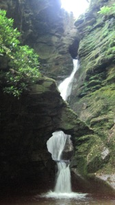The holy waterfall at St. Nectan's