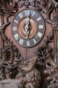 I mentioned I;m German, right? Therefore, I get to use a cuckoo clock. (Source: Wikimedia Commons)