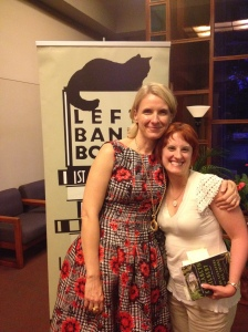 Elizabeth Gilbert (left) and a very excited me