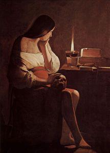 Mary Magdalene by Georges de La Tour (Source: Wikimedia Commons, Public Domain)