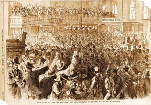 Scene in the New York Gold Room During the Great Excitement of September 24.