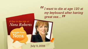 Me too, Nora. Me too.
