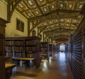 Duke Humfrey's Library, via Wikimedia commons