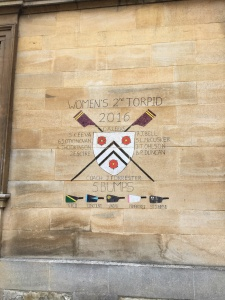 Rowing bragging rights at New College. Diana would be proud!