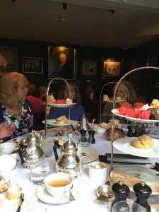 Afternoon Tea at The Old Parsonage. I really want an authentic British scone right now...